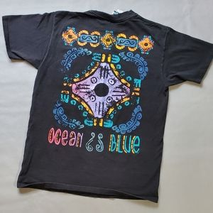 Vintage | 1990's Ocean Blue Graphic Surf Style Tee